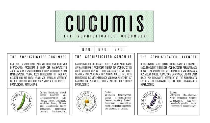 Cucumis Getränkesorten