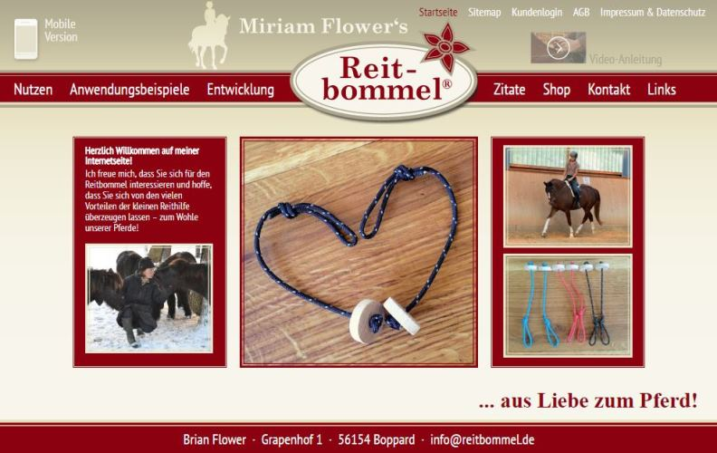 Reitbommel® Website von Miriam Flower