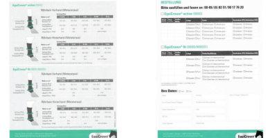 EquiCrown ® Kompressionsbandagen Größentabelle und Maßanleitung