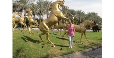 Dubai - Goldene Pferde