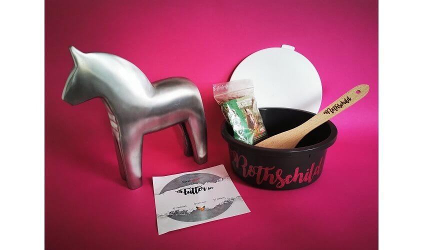 Horsemade Futterschüssel Glitter