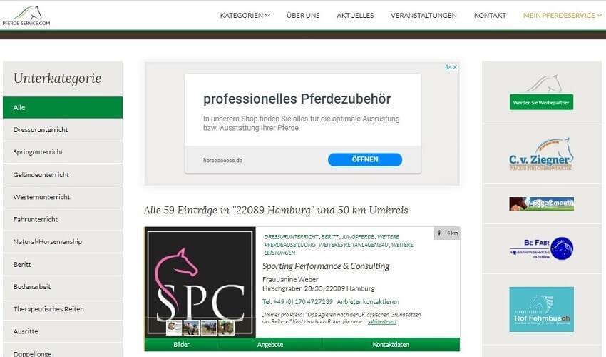 Pferde-Service.com Portal