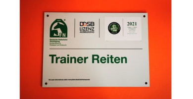 Trainerschilder Trainer Reiten