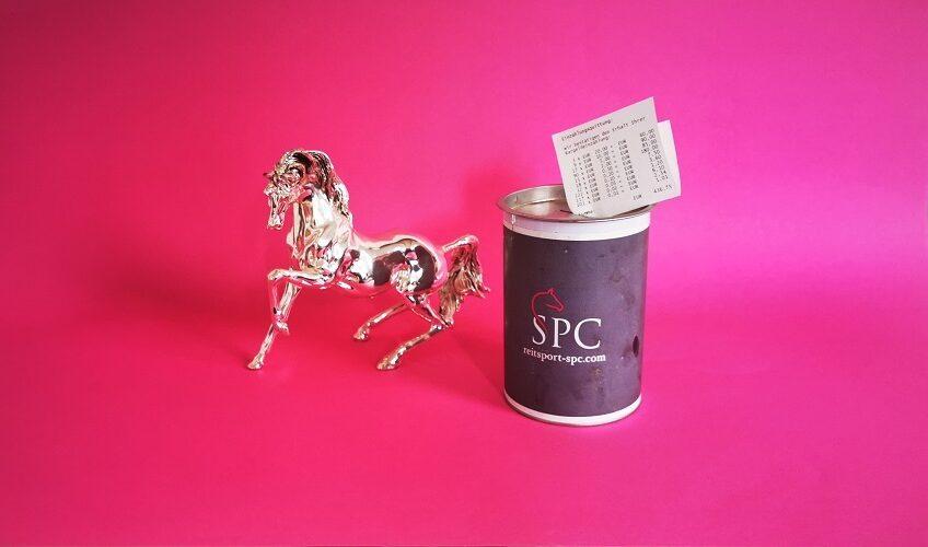 Reitsport SPC Spendendose für den Tierschutz